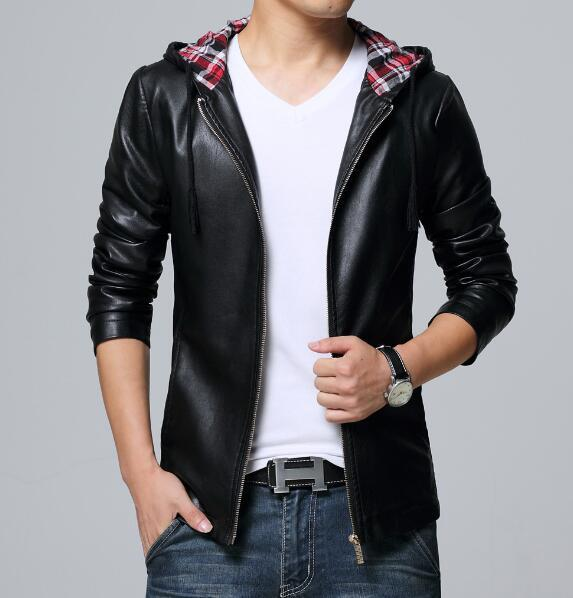 Collective Leather Hoodie - Black / XS - HIS.BOUTIQUE