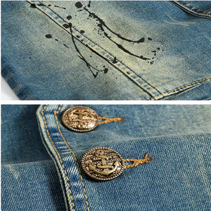 Vintage Design Denim Vest -  - HIS.BOUTIQUE