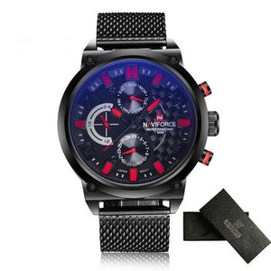 NAVIFORCE Waterproof Quartz - Red - HIS.BOUTIQUE