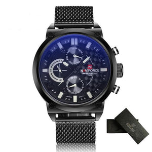 NAVIFORCE Waterproof Quartz - White - HIS.BOUTIQUE