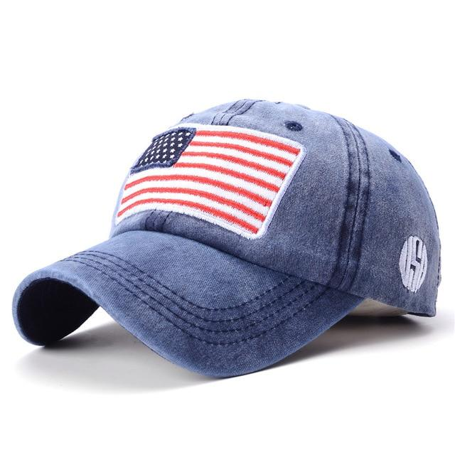 USA Flag Baseball Cap - Blue - HIS.BOUTIQUE