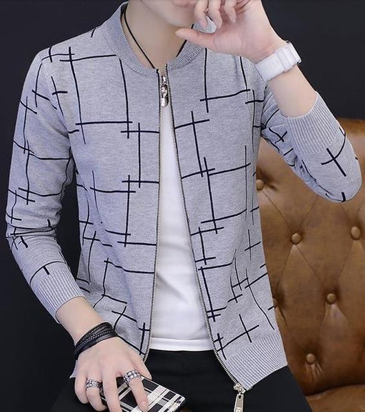 Geometric Outerwear - light gray / S- Jacket -HIS.BOUTIQUE