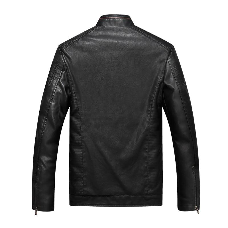 Geometric Faux Leather Jacket -  - HIS.BOUTIQUE