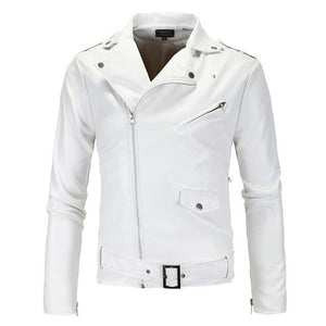 Biker Jacket - White / XS - HIS.BOUTIQUE