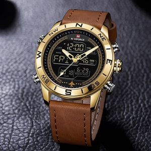 LED Analog & Digital Watch - Gold - HIS.BOUTIQUE