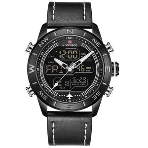 LED Analog & Digital Watch - Black - HIS.BOUTIQUE