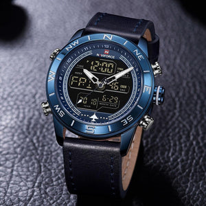 LED Analog & Digital Watch - Blue - HIS.BOUTIQUE