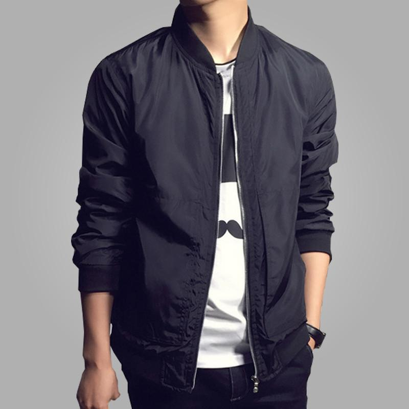 Solid Fashion Slim Stand Jacket -  - HIS.BOUTIQUE