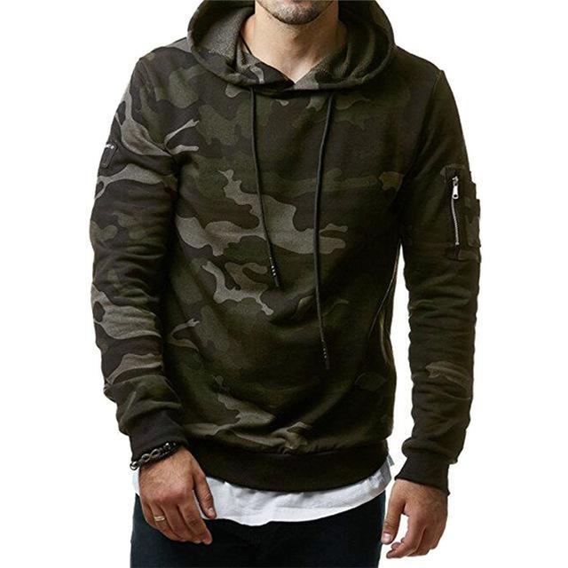 Camouflage Hoodie - Green / XS - HIS.BOUTIQUE