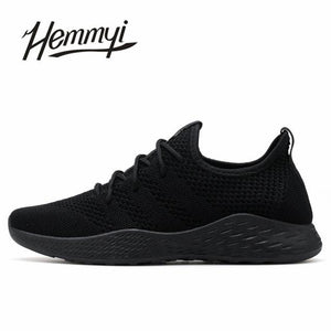 Breathable Men Sneakers - Black / 10 - HIS.BOUTIQUE
