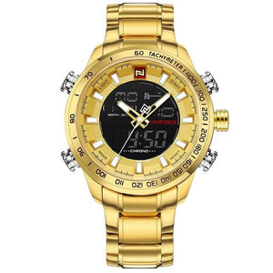 Men's Digital Quartz - Gold - HIS.BOUTIQUE