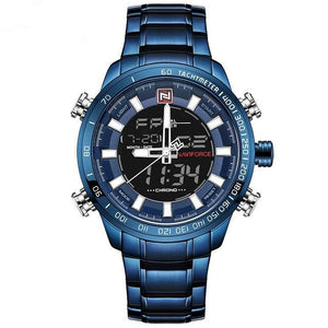 Men's Digital Quartz - Blue - HIS.BOUTIQUE