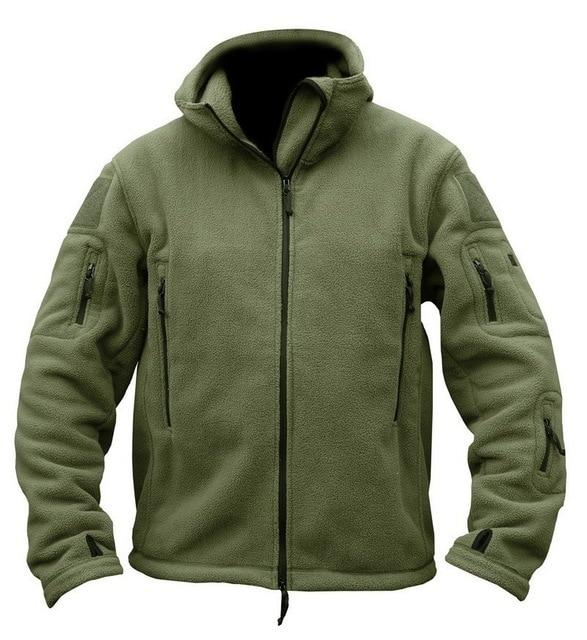 Military Fleece Hoodie - Army green / S - HIS.BOUTIQUE