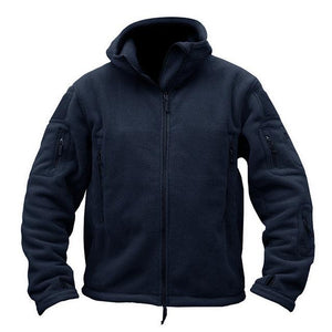 Military Fleece Hoodie - Navy / S - HIS.BOUTIQUE