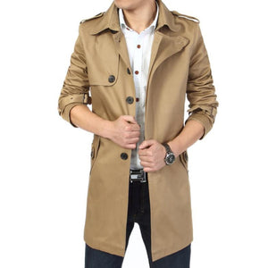 THE SANDRINGHAM - Long Coat - Khaki / XS - HIS.BOUTIQUE