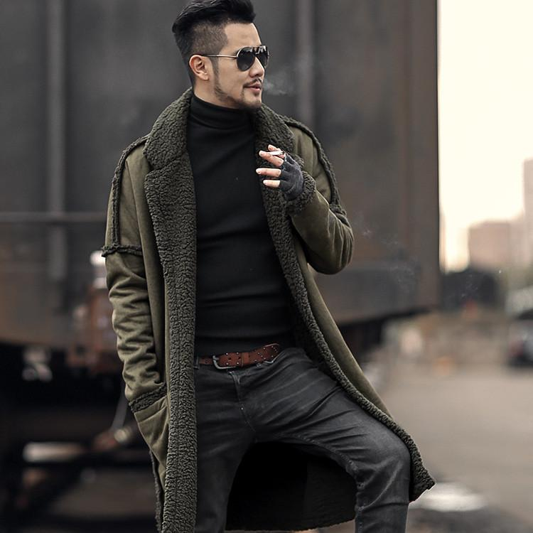 Woolen Furry Coat - olive green / XXS - HIS.BOUTIQUE