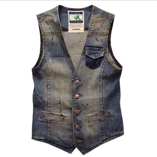 Cowboy Vintage Vest - Blue / XS- Vest -HIS.BOUTIQUE