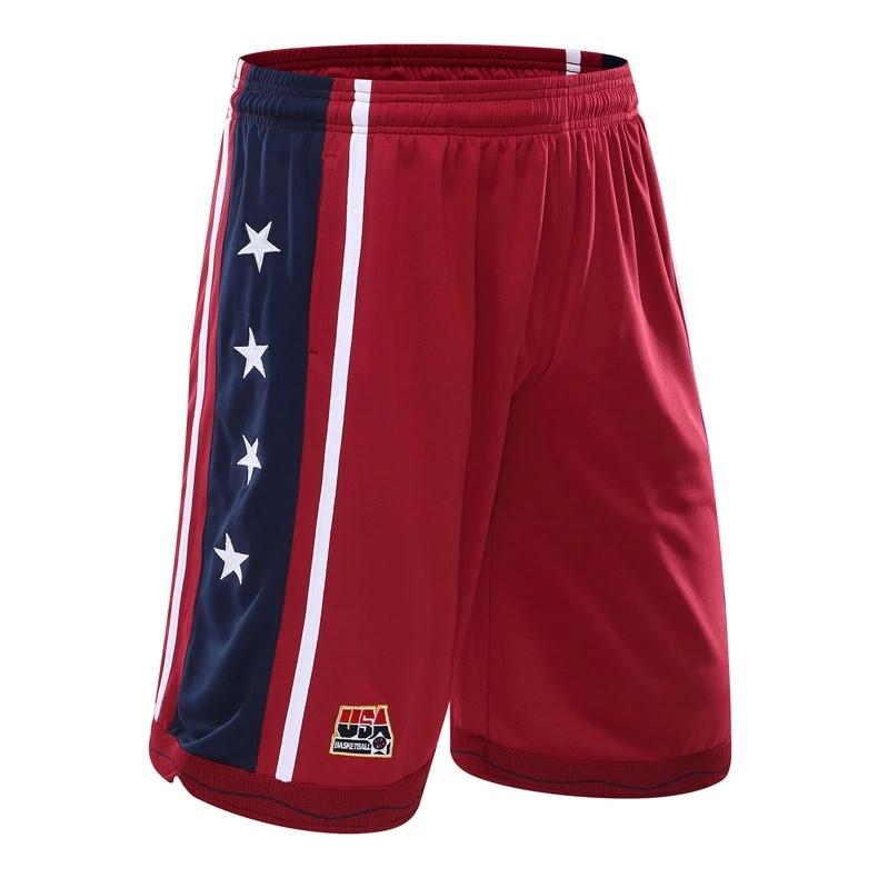 USA Men's Basketball Shorts - Red / S - HIS.BOUTIQUE