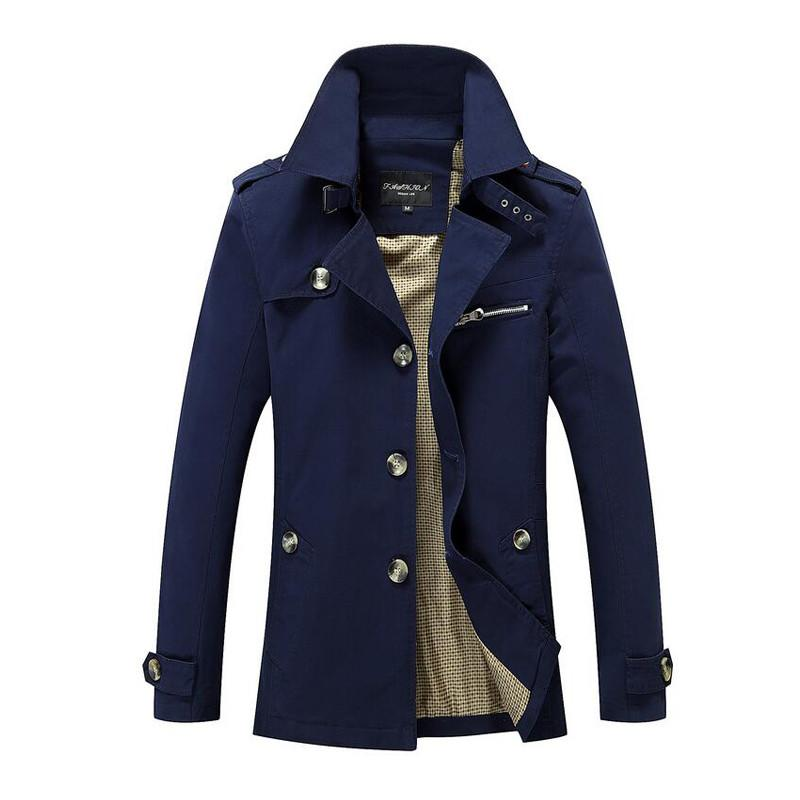Businessman Trench Coat - Navy / XXS- Jacket -HIS.BOUTIQUE