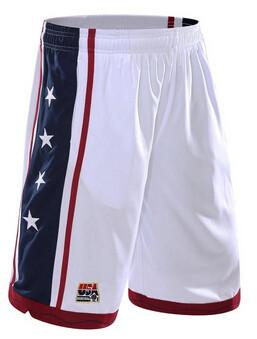 USA Men's Basketball Shorts - White / S - HIS.BOUTIQUE