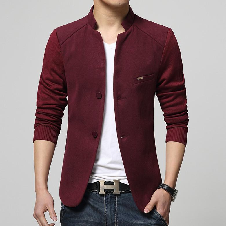 Suit Collar Woolen Blend Blazer - Red / XXS - HIS.BOUTIQUE