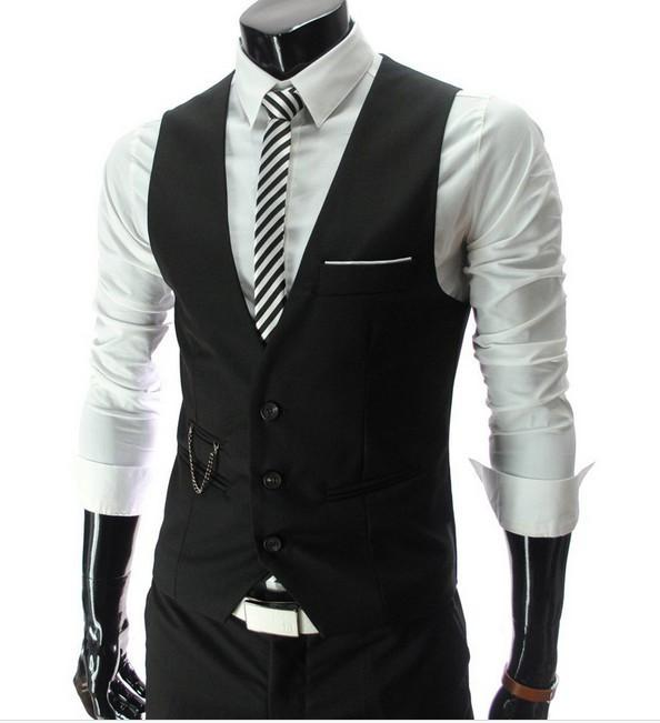 Men's Casual Waistcoat - Black / XS - HIS.BOUTIQUE