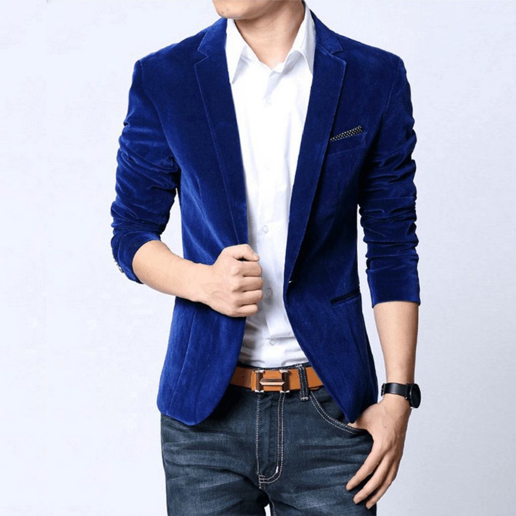 Velvet Blazer - Blue / XS- Blazer -HIS.BOUTIQUE