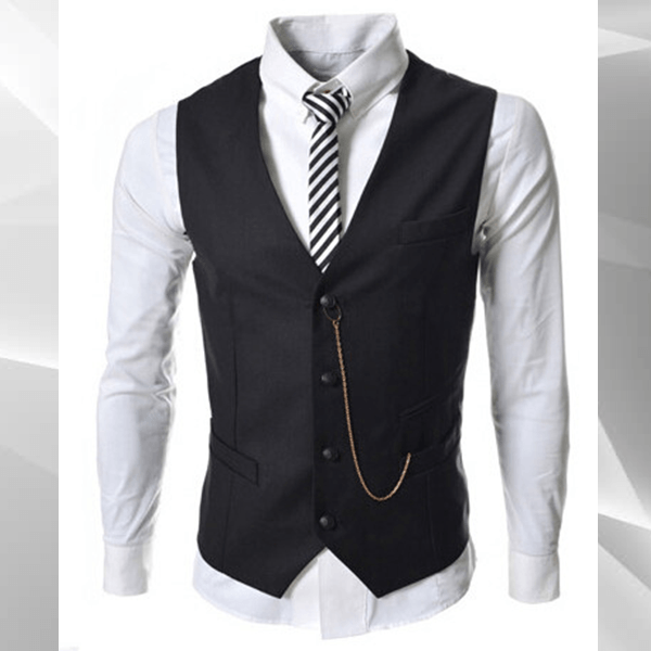 Black Suit Waistcoat - black / S - HIS.BOUTIQUE