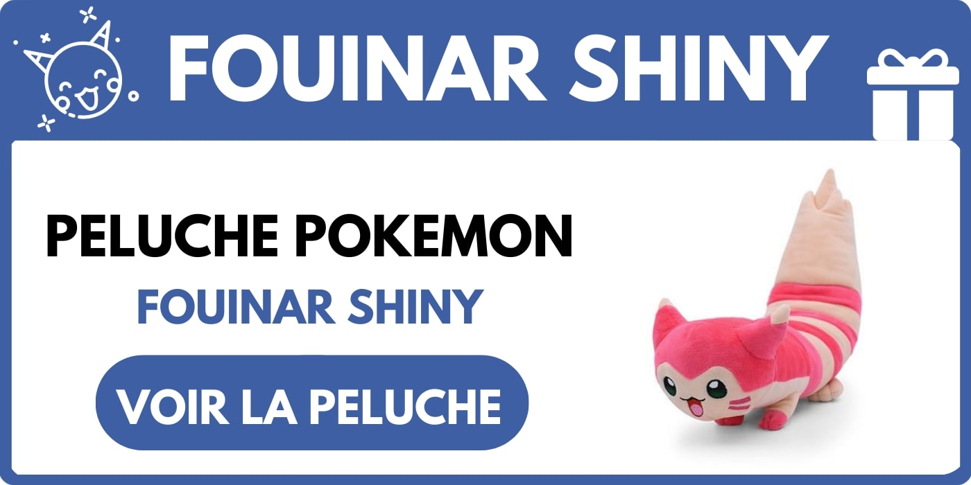 PELUCHE FOUINAR SHINY POKEMON