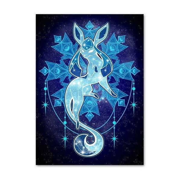 Sarah Lerrot Poster 21cmX30cm Affiche Pokemon Fan Art Givrali Constellation