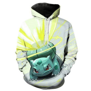 Pokemon Boutique Sweat XS Sweat Pokémon Bulbizarre Attaque Lance Soleil