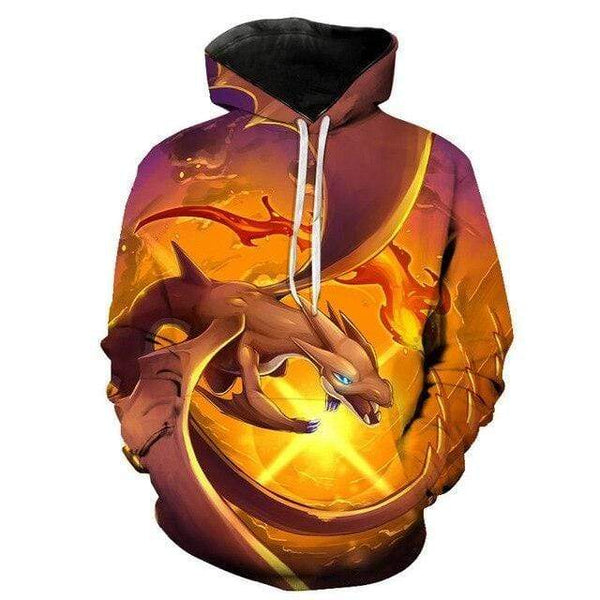 Pokemon Boutique Sweat M Sweat Pokémon Méga Dracaufeu Y