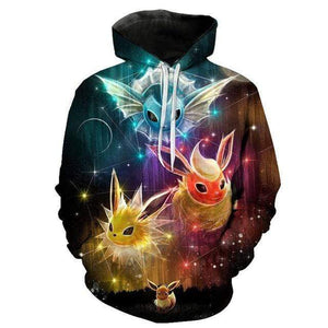 Sweat Pokémon Voltali Pyroli et Aquali 3XL