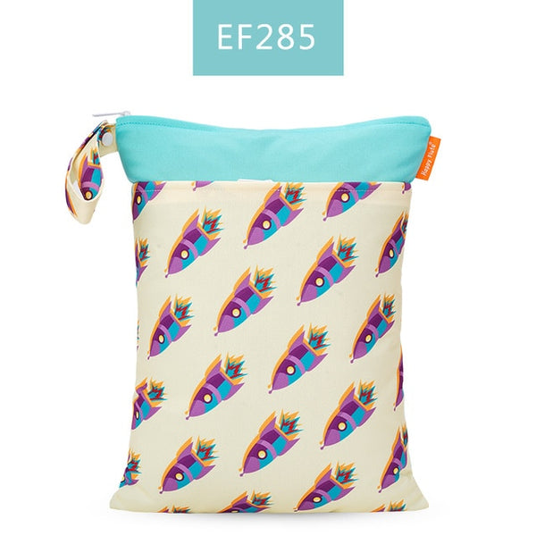 Waterproof Double Pocket Fashion Prints Wet Dry Diaper Bag