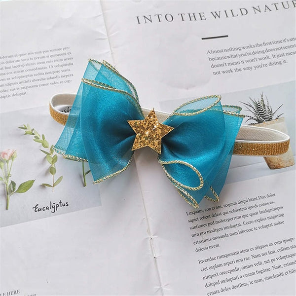 BalleenShiny Cotton Bowknot Headband for Baby Girls