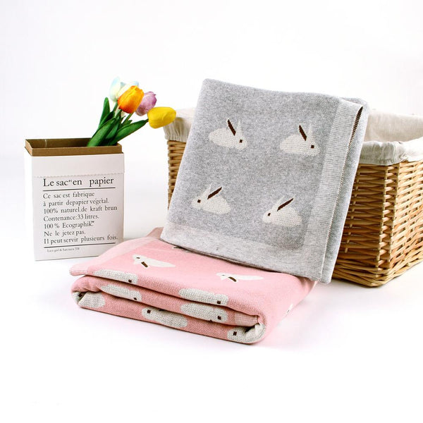 Multiifunctional Blankets with Animal Design for Babies (100x80cm)