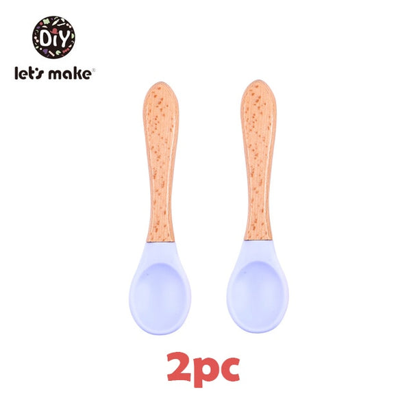 Silicone Waterproof Spoon & Non-Slip Feedings Silicone Bowl Set