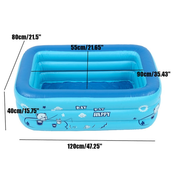 Eco Friendly Inflatable Swimming Pool for Baby and Children (43in-78in)