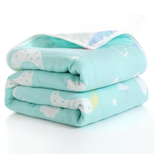 Six Layered Baby Blankets For Children (31x 31in)
