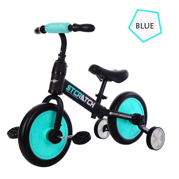 Kids Balance Bike Ultralight Kids Riding Bicycle for 1- 5 Years Baby Walker Scooter Bike Auxiliary wheel No-Pedal Learn To Ride