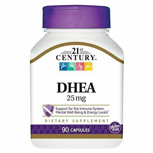 21st Century DHEA 25 mg Capsules, 90 Count - usaotc.com