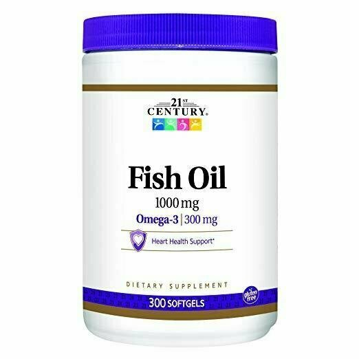 21st Century Fish Oil 1000 mg Softgels, 300 Count - usaotc.com