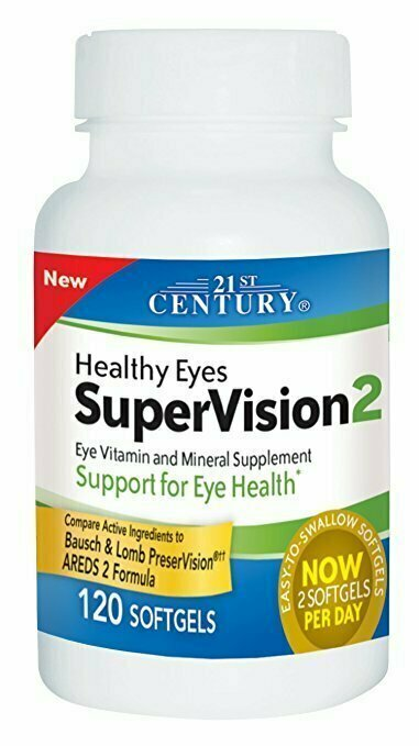 21st Century Healthy Eyes SuperVision2 Softgels, 120 Count - usaotc.com