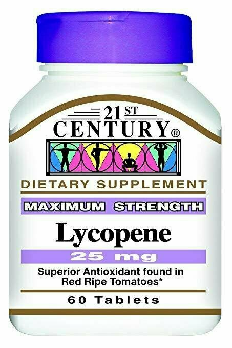 21st Century Lycopene 25 mg Tablets, 60 Count - usaotc.com