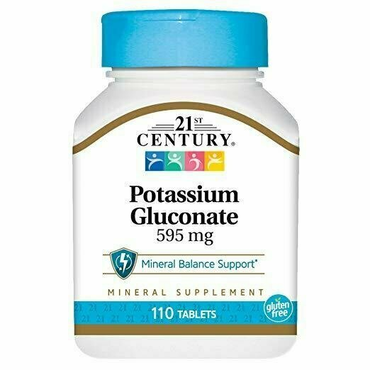 21st Century Potassium 595 mg Tablets, 110-Count - usaotc.com