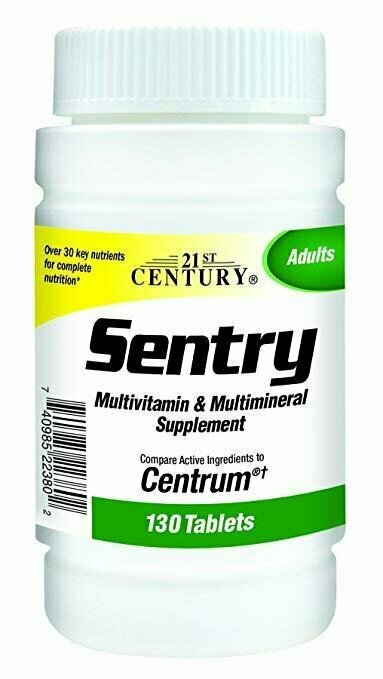 21st Century Sentry Tablets, 130 Count - usaotc.com