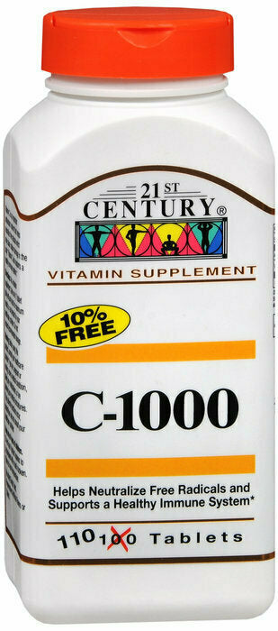 21ST CENTURY VITAMIN C 1000MG TABLET 110CT - usaotc.com