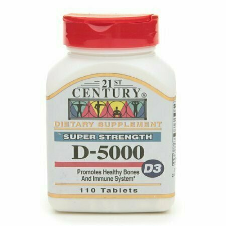 21St Century Vitamin D-5000, Super Strength D3 Tablets - 110 Ea - usaotc.com