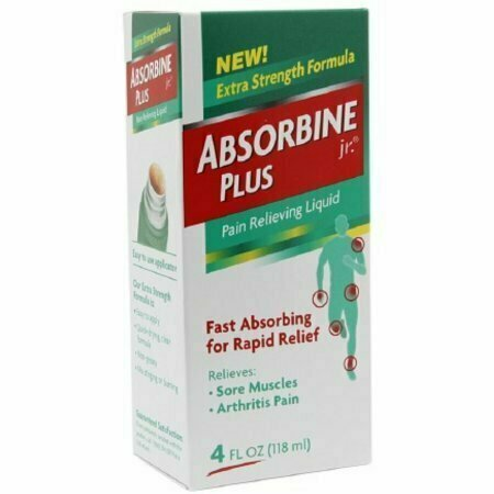 Absorbine Jr. Plus Pain Relieving Liquid 4 oz - usaotc.com