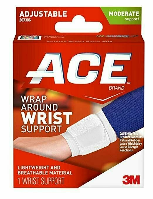 ACE Adjustable Wrap Around Wrist Brace, Moderate Support, One Size 1 Each - usaotc.com